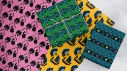 Selection of giftwrap sheets in Ohh Fleur designs